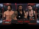 WFW RAW - Roman Reigns vs AJ Styles vs Sgt. Payne [Triple Minor Championship Multibrand Threat]