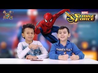 Мир мальчишек  •  ЯРИК и ДАНИ играют в приложение MARVEL Strike Force!