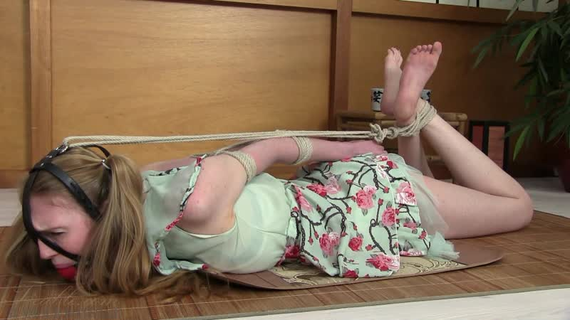 Blonde Girl Hogtied