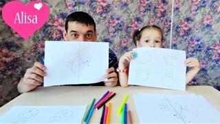 ЧЕЛЛЕНДЖ Дорисуй рисунок Алиса против папы Мы рисуем Вы голосуете