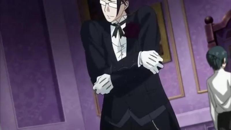 Прикол аниме Темный дворецкий.Клод - мой нежный гель.