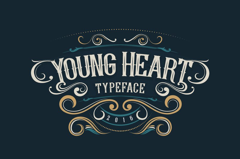 Download young heart font (typeface)
