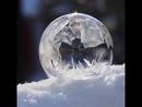 Když zmrzne bublina......