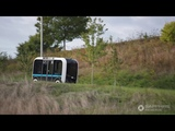 James Corden goes for a ride in OLLI - Autonomous Shuttle by Local Motors