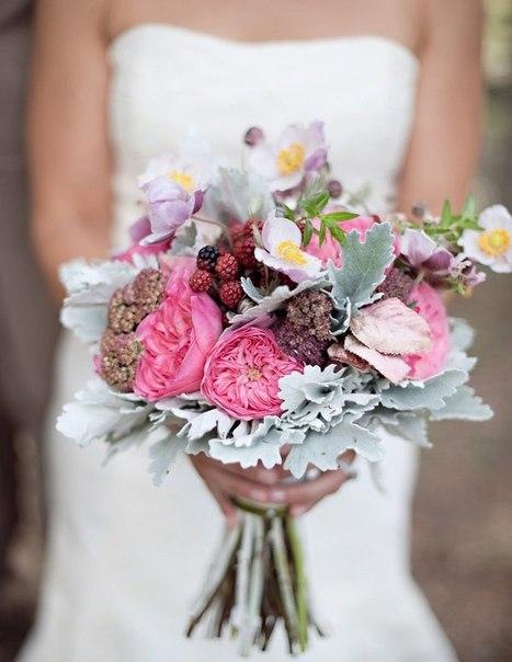 Современные букеты невесты