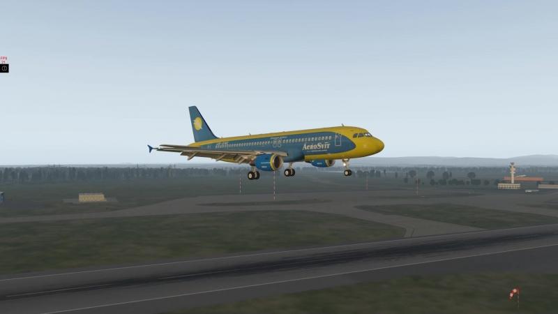 X-plane 11 EDDF RW07C A320 landing