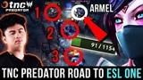 ARMEL EPIC 1v3 GANK TURN-AROUND, TNC Predator Victory Road to ESL One - Dota 2