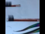 4. пинцет после заточки формируем пучок