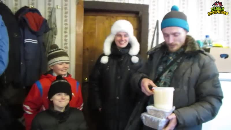 Гости из Батхая. Даша, Гриша и дети. (01.18г.) Семья Бровченко.