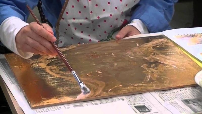 サクラアートサロン大阪 日曜アートセミナー「箔を活用しよう ~重2140