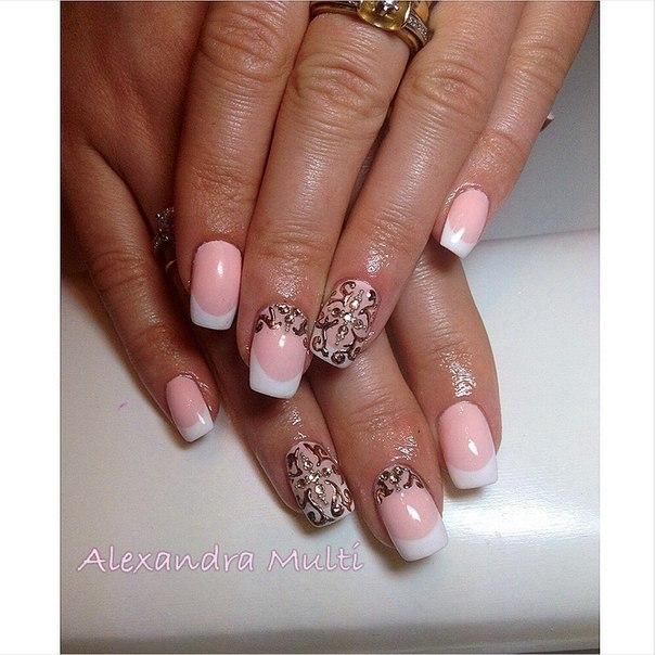 Фото красивых ногтей нарощенных квадратных