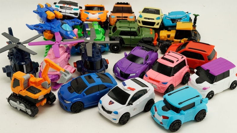 Tobot Mini Carbot Robot Transformers Car, Excavator, Police, Helicopter! трансформеры Cars Toys