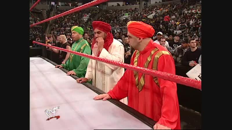 Billy Gunn Vs Val Venis - Lumberjack Match - RAW 08.01.2001