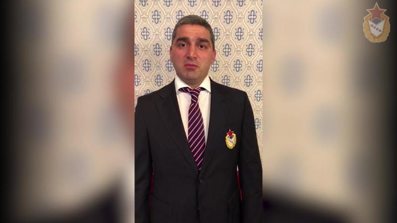 Олимпийцы ЦСКА поздравили Главу Тувы Ш.В. Кара-оола с Днем рождения