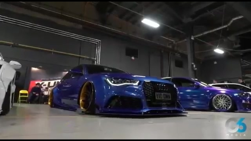 X-UK unveil Audi RS6 TDI Widearch @ FITTED UK 2017 Accuair air suspension