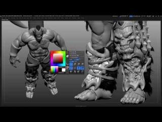Modeling sculpting Orc 4 (Orc Challenge CGHub WIP)