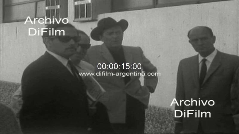 Robert Taylor viaja a la Patagonia para filmar un documental 1967