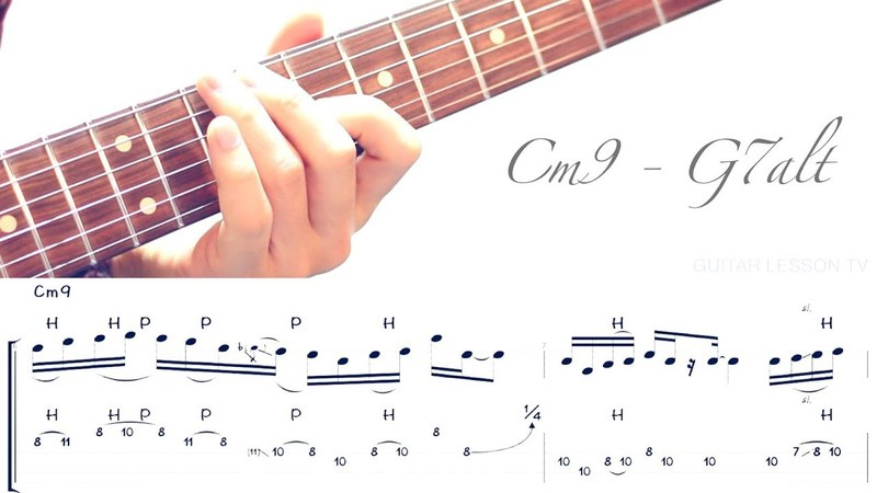 Jazz Fusion Legato Licks - Cm9 - G7alt Example 2