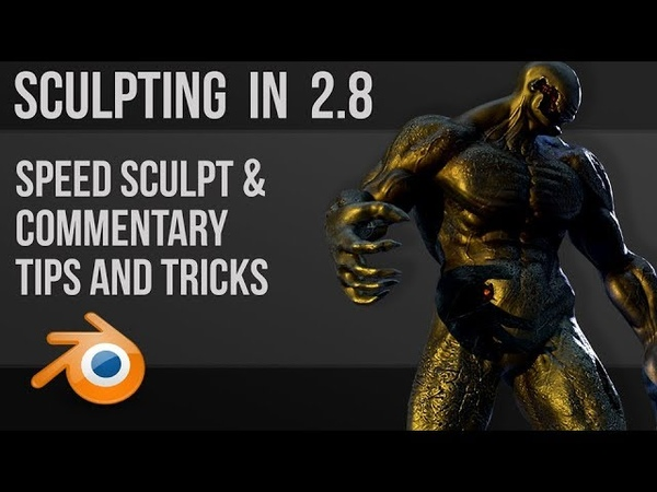 Sculpting in blender 2.8 - tips and tricks - speed sculpt commentary