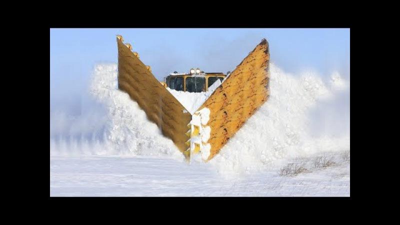 Awesome Powerful Snow Plow Train Blower Through Deep Snow railway tracks Full HD Crash Compilation