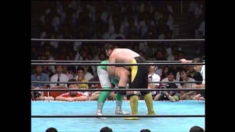 1993.07.29 - Mitsuharu Misawa [C] vs. Toshiaki Kawada