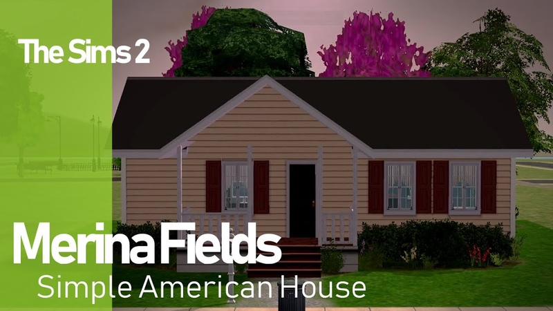The Sims 2 Merina Fields - Simple American house.