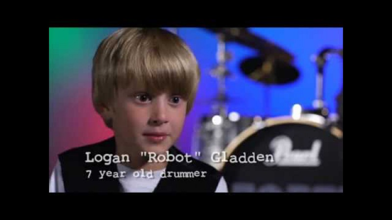 Chuck E Cheese in store video featuring 7 year old drummer Logan Robot Gladden Fall 2011 Show