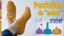 Pantuflas en SOBRE o MONEDERO tejidas a crochet en 3 tallas / Tejiendo Perú