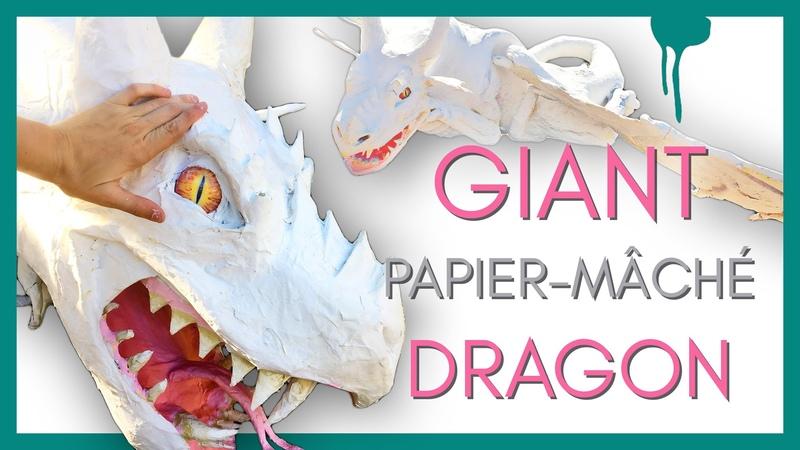 Making a GIANT PAPIER-MÂCHÉ DRAGON! (for ArtWalk)