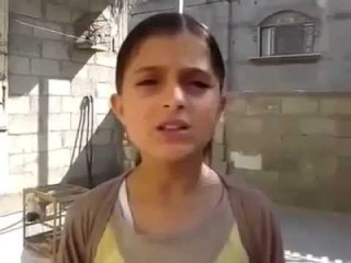 A message from a young girl in Gaza to Israel and the world  SHARE this beautifu...