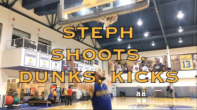 Steph Curry splashes, dunks, kicks ⚽ and Ralph commits an