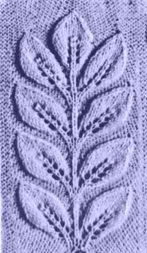 спицами : листики