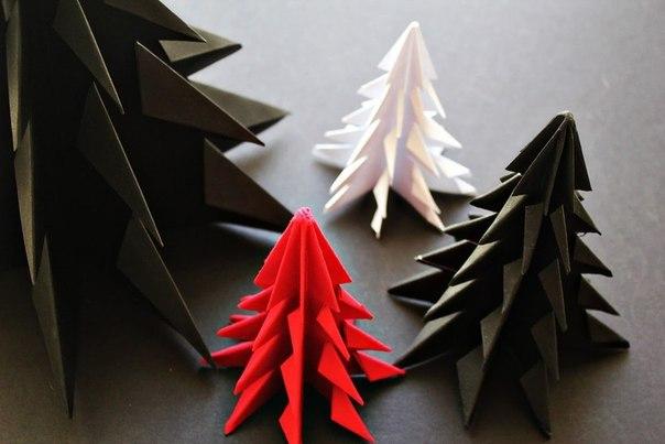Оригами новогодняя елка своими руками