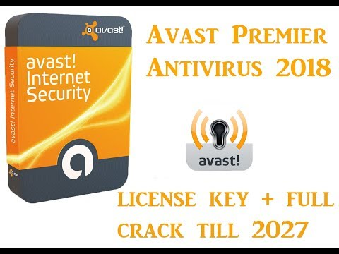 Avast Premier Antivirus 2018 license key full crack till 2027