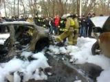 Porsche Panamera TopCar сгорела в Махачкале