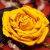 цветы из кожи ручной работы