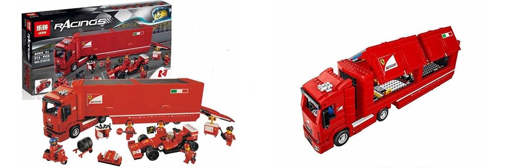 Конструктор Lepin Феррари F14 и грузовик Скудерии Феррари 21010