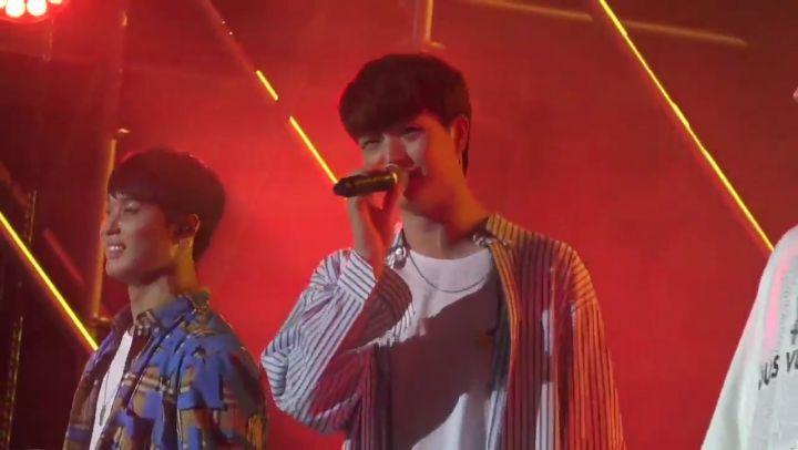 """🎶 비투비 Malaysian Melody 🇲🇾 on Instagram: """"20180728 BTOB performing 'Someday' at K-Star Concert (Sungjae forgot the lyrics 😆)💙💙💙💙💙💙 ©wave_of_beat . ...."""