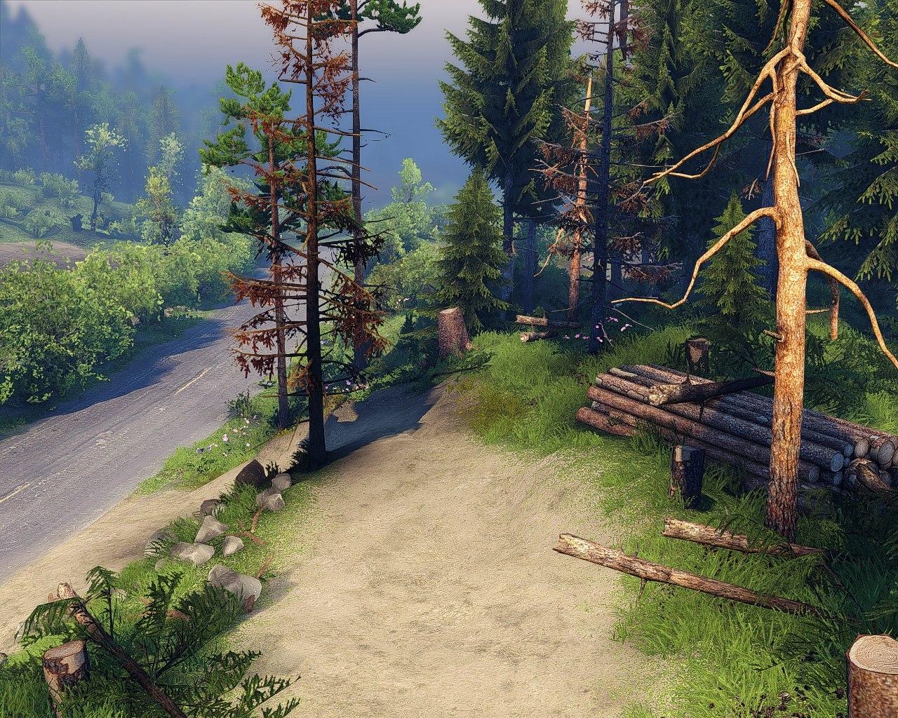 """Карта """"Faerie Hill"""" (13.04.15.) для Spintires - Скриншот 1"""
