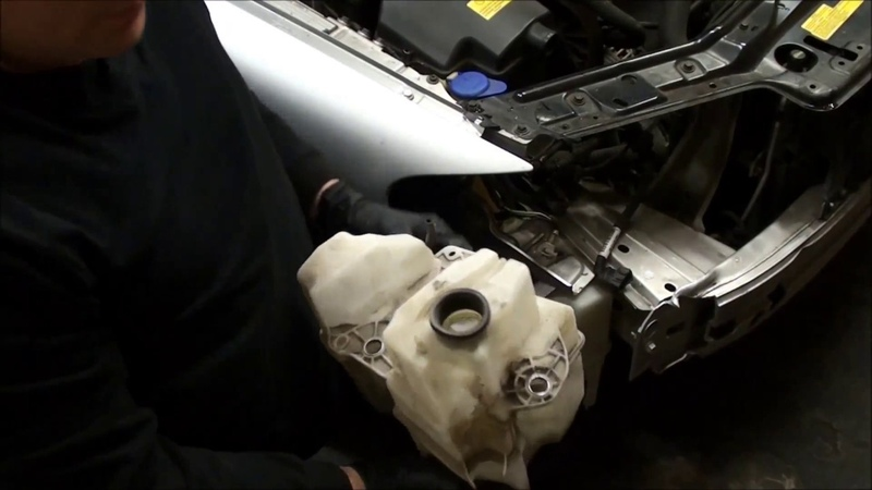 How to replace windshield wiper reservoir tank on a 2001 Volvo S60