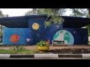 Роспись стены на тему Космос