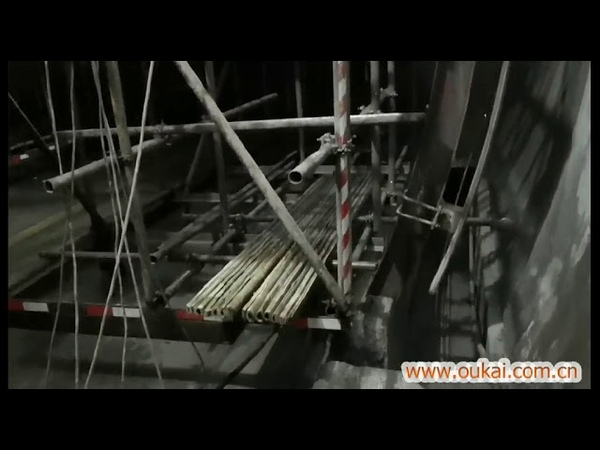 OK Wall sawing use Arc-shaped Rails cutting in G-series high -speed trainTunel