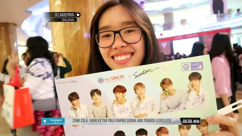 [SNS] [180918] Seventeen (세븐틴) @ The Saem Fansign in Jakarta (NET News)