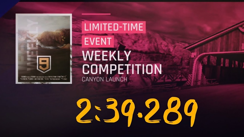 Asphalt 9 [Weekly Competition] 3* AMG @Canyon Launch (2 laps) 2:39.289
