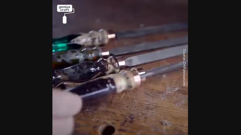 Ручки из эпоксидки и дерева - hexrb bp gjrcblrb b lthtdf -