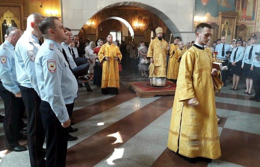 Молитвенное поминовение в 300-летний юбилей Российской полиции