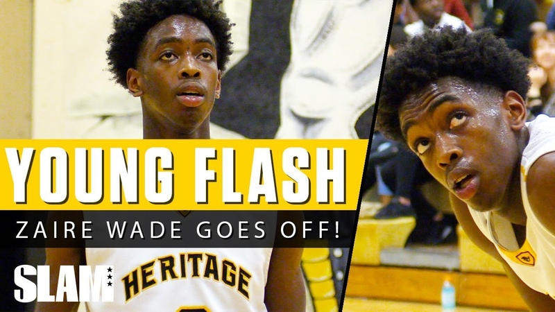 Zaire Wade is Young Flash! ⚡️ Lookin' Like His Pops!