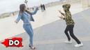 Новая Лезгинка 2018 Девушка Танцует С Парнями Очень Классно В Парке В Баку