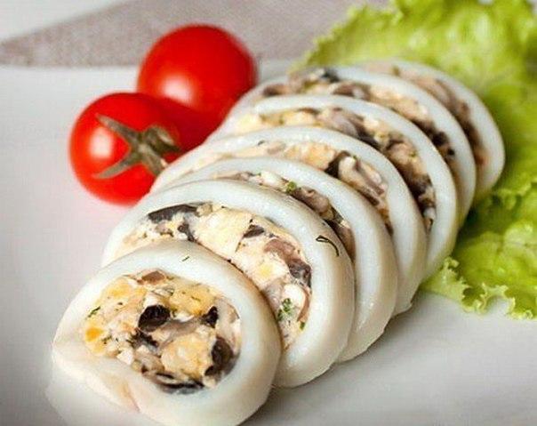 фаршированный кальмар в духовке рецепты с фото