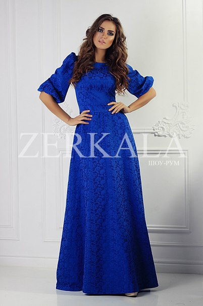 Голубое вечернее платье самара